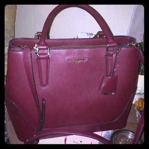 NWT Karl Lagerfeld deep red satchel